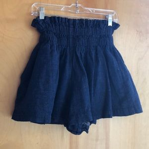 H&M blue high-waisted shorts elastic waist